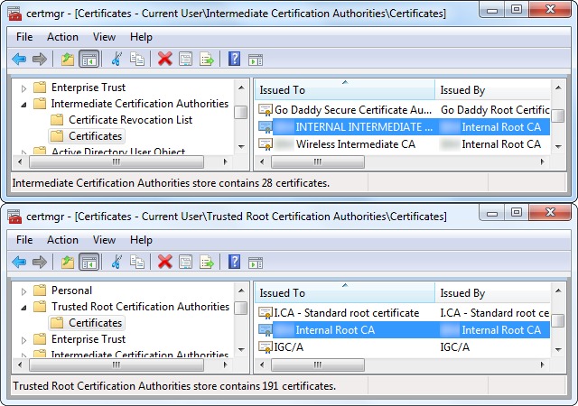 Enterprise Certificates